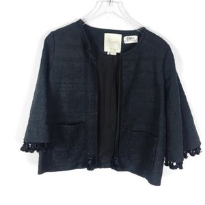 Kate Spade | Pom Black Embroidered Jacket